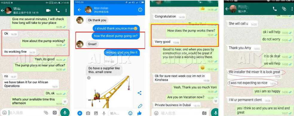 Customers Positive Feedback on Aimix Concrete Pump