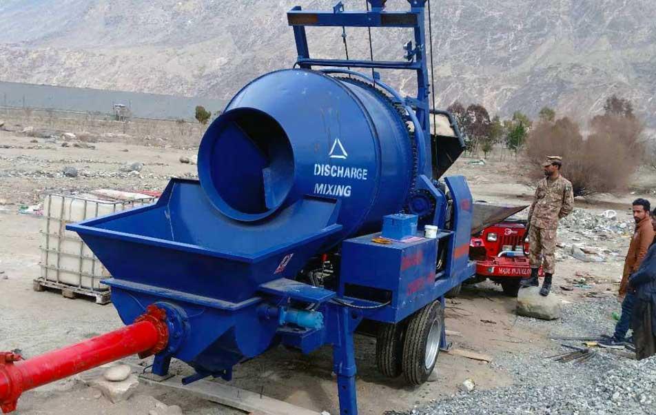 خلاطة الخرسانة ABJZ40C ومضخة في باكستان