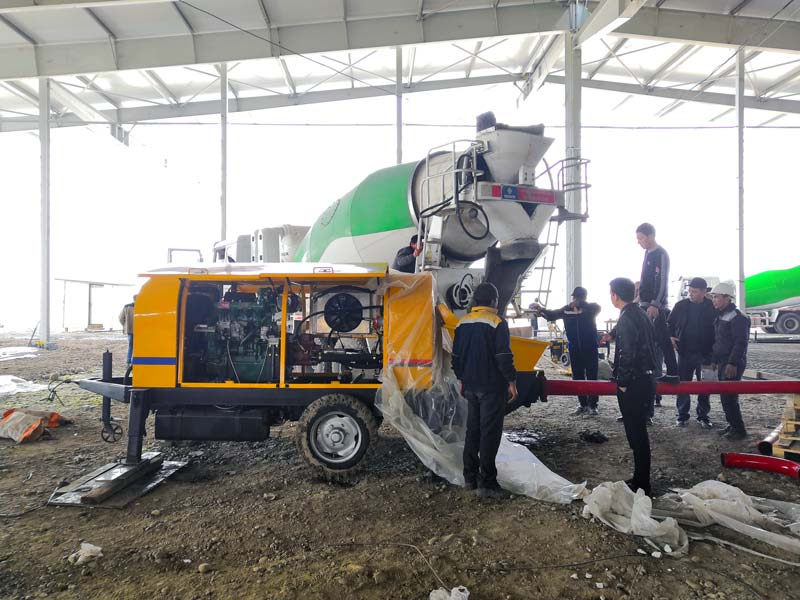 Portable Concrete Pump in Uzbekistan