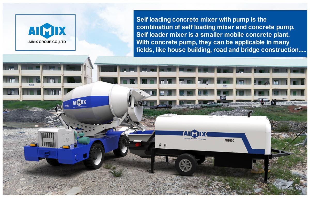 Self Loading Concrete Mixer with Pump