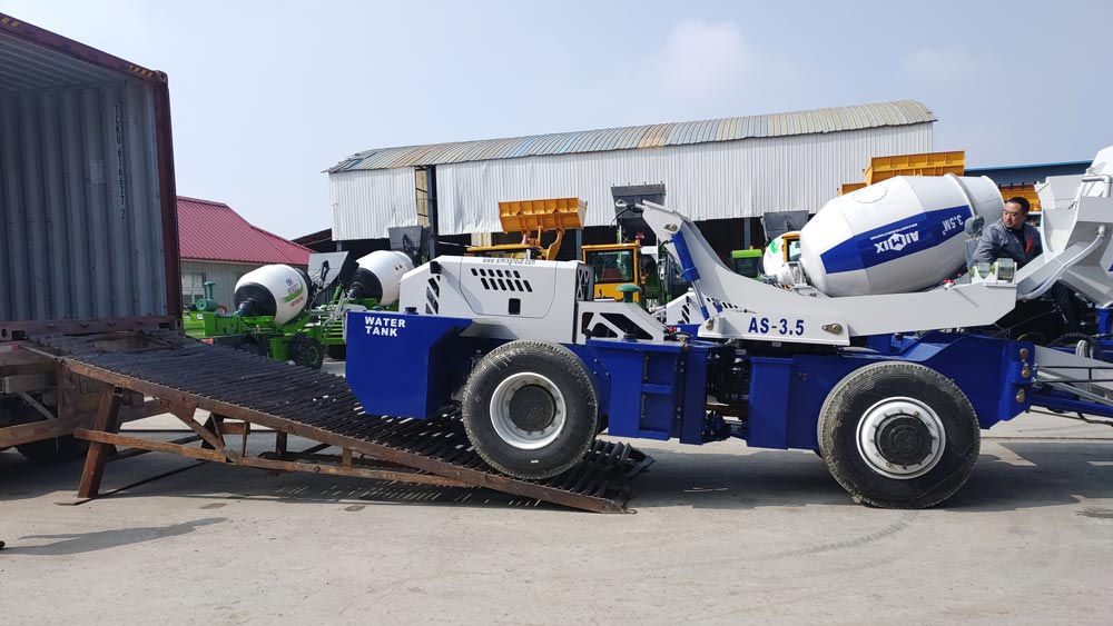 Transporting AS-3.5 Self Loading Mixer to Indonesia