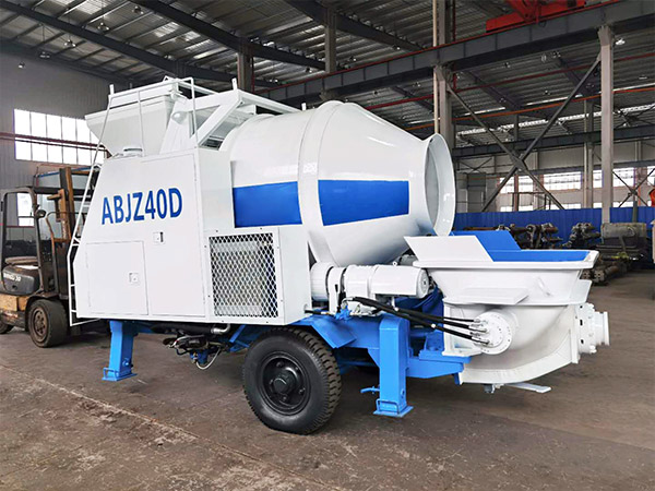 ABJZ40D Mini concrete mixer and pump
