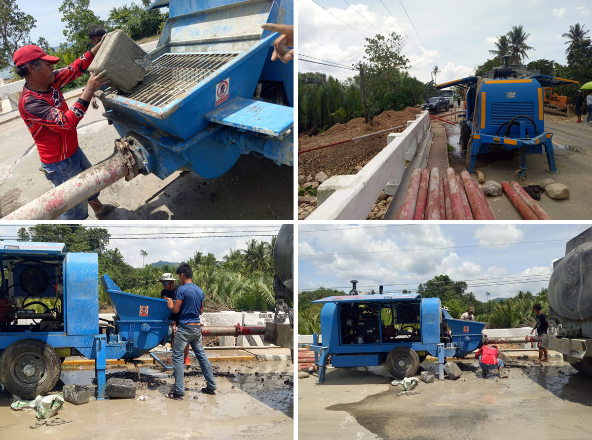 ABT40C Trailer Concrete Pump Work In The Philippines