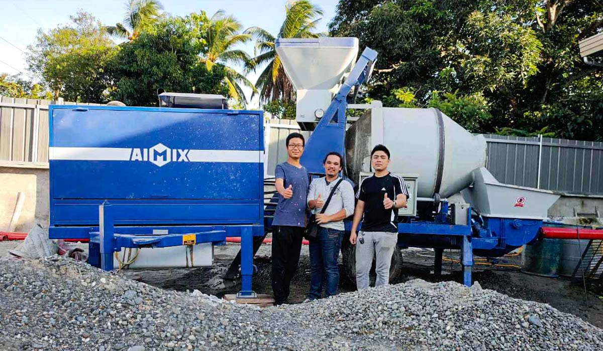 Cement Mixer Pump in Philippines Construction Site
