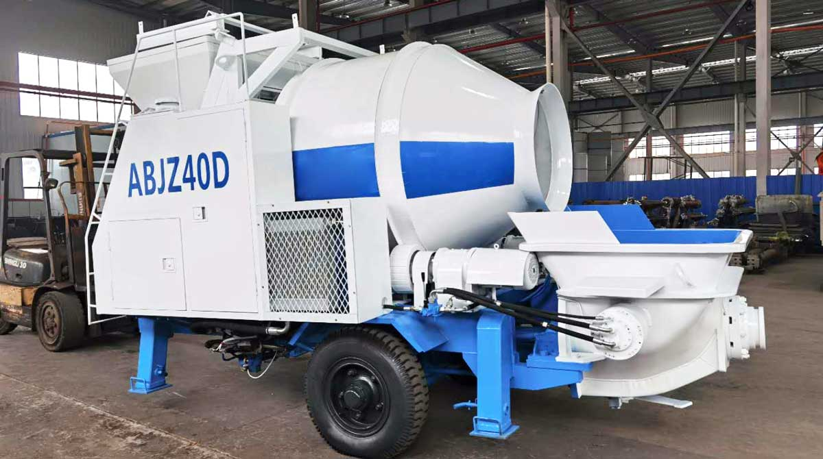 Delivering Aimix ABJZ40C Electric Concrete Mixer Pump to Salmahan, Uzbekistan