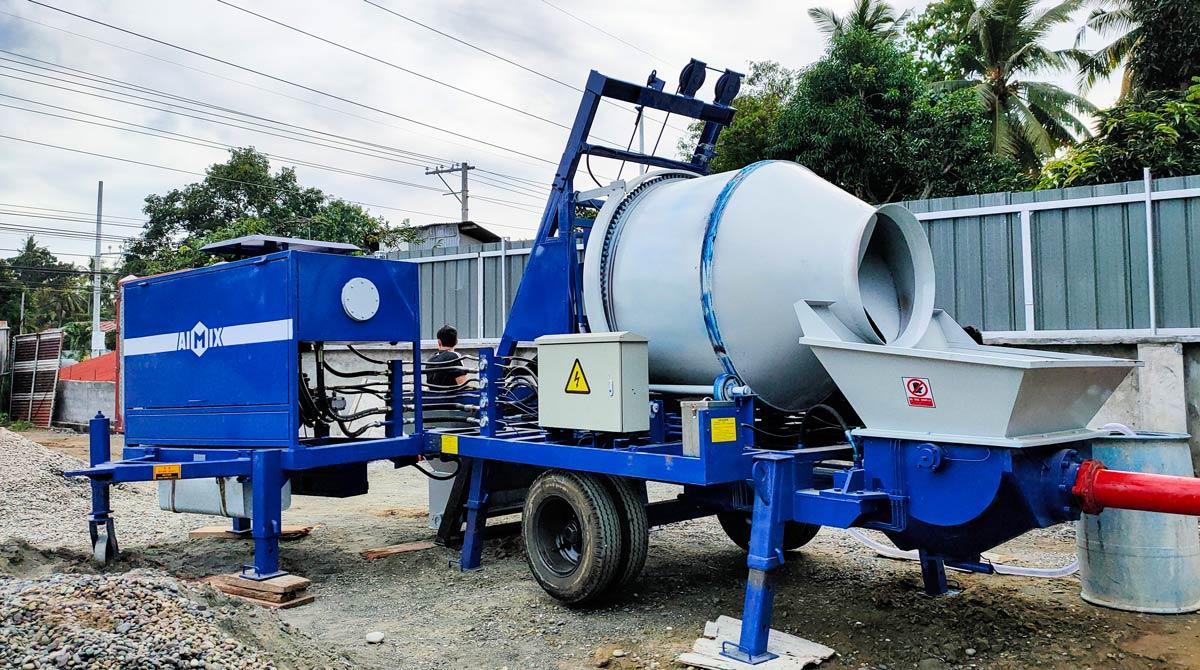 ABJZ40C Small Concrete Mixer Pump