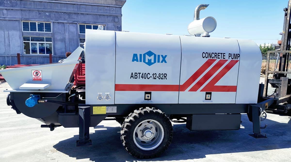 ABT40C Diesel Concrete Pump Ready to Philippines