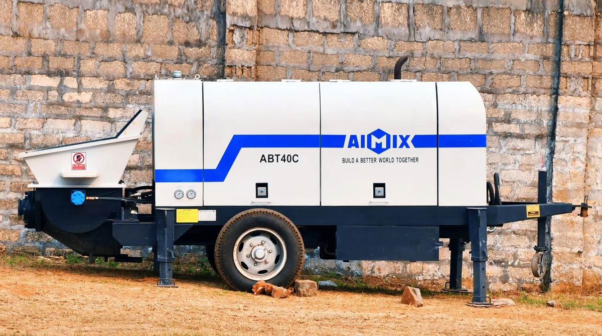 Дизельный бетононасос ABT40C Работает в Мьянме