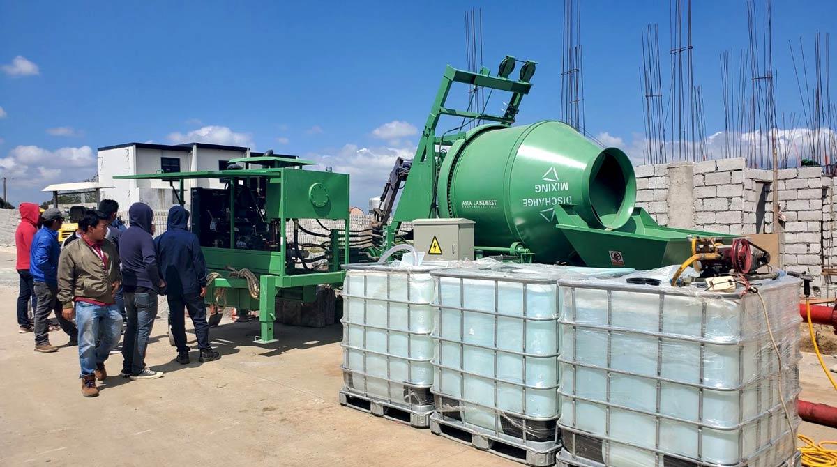 small concrete mixer pump ABJZ40C
