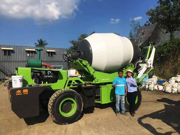 AIMIX Self Loading Mixer Working in The Philippines