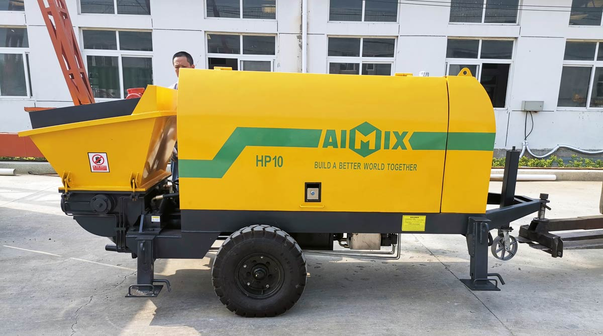Exporting AIMIX Cement Mortar Pump to Malaysia