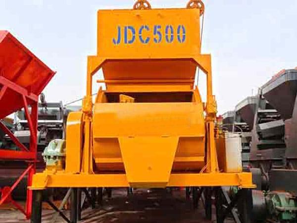 Одновальный бетономешалка JDC500