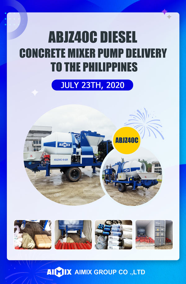 ABJZ40C Mixer Pump Delivering to Philippines