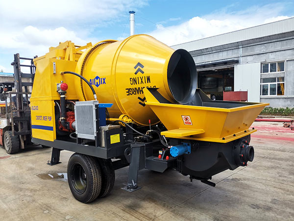 ABJZ40D Electric Small Concrete Mixer and Pump