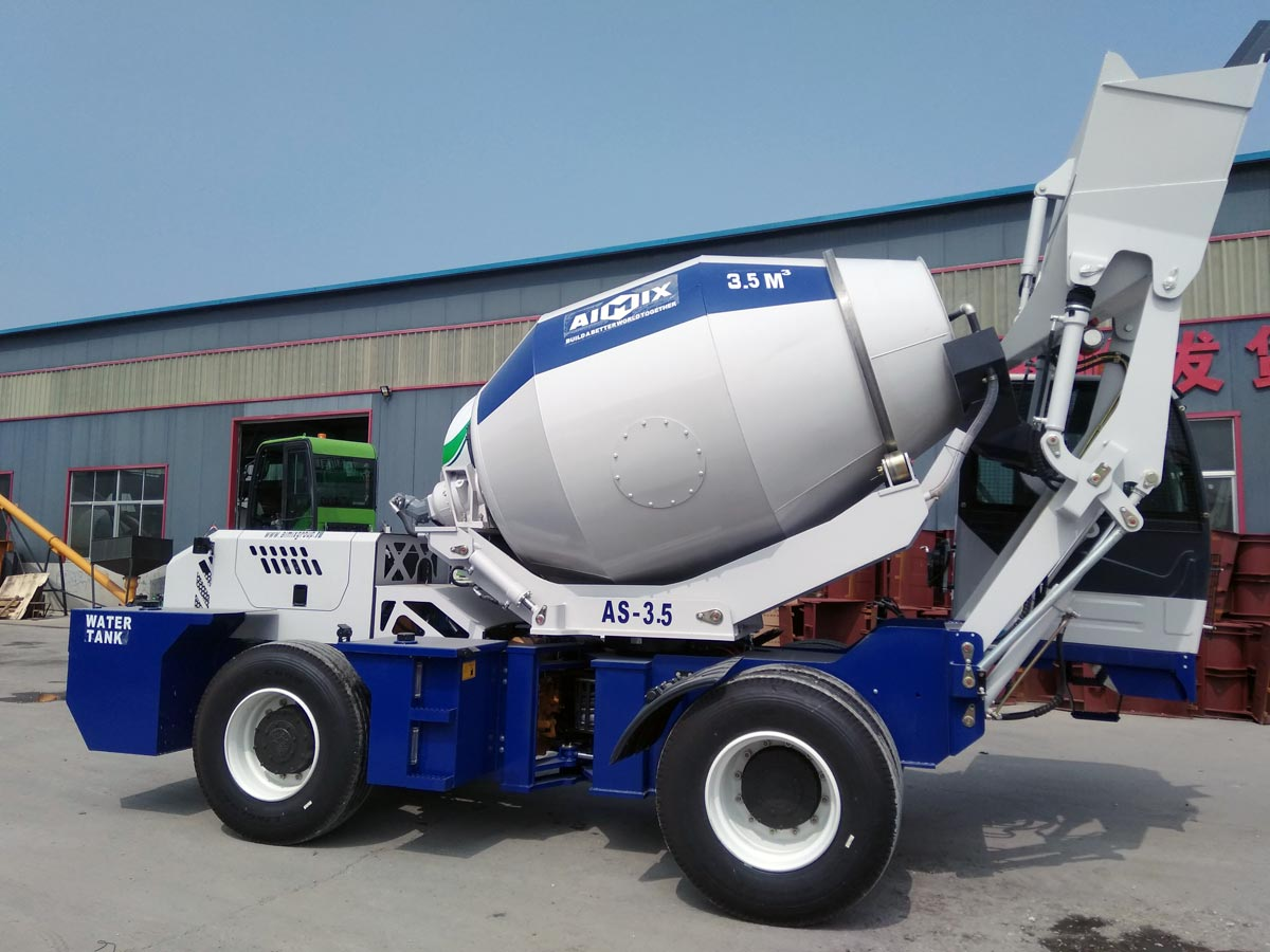 Exporting AIMIX AS-3.5 Self Loading Concrete Mixer to Kazakhstan