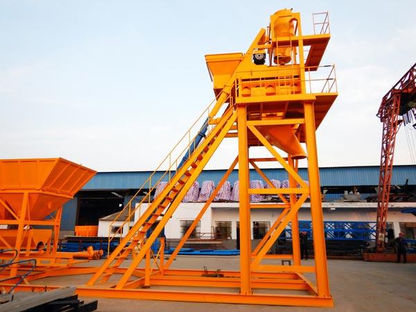 JS1000 большой бетоносмеситель для бетонного завода AJ50