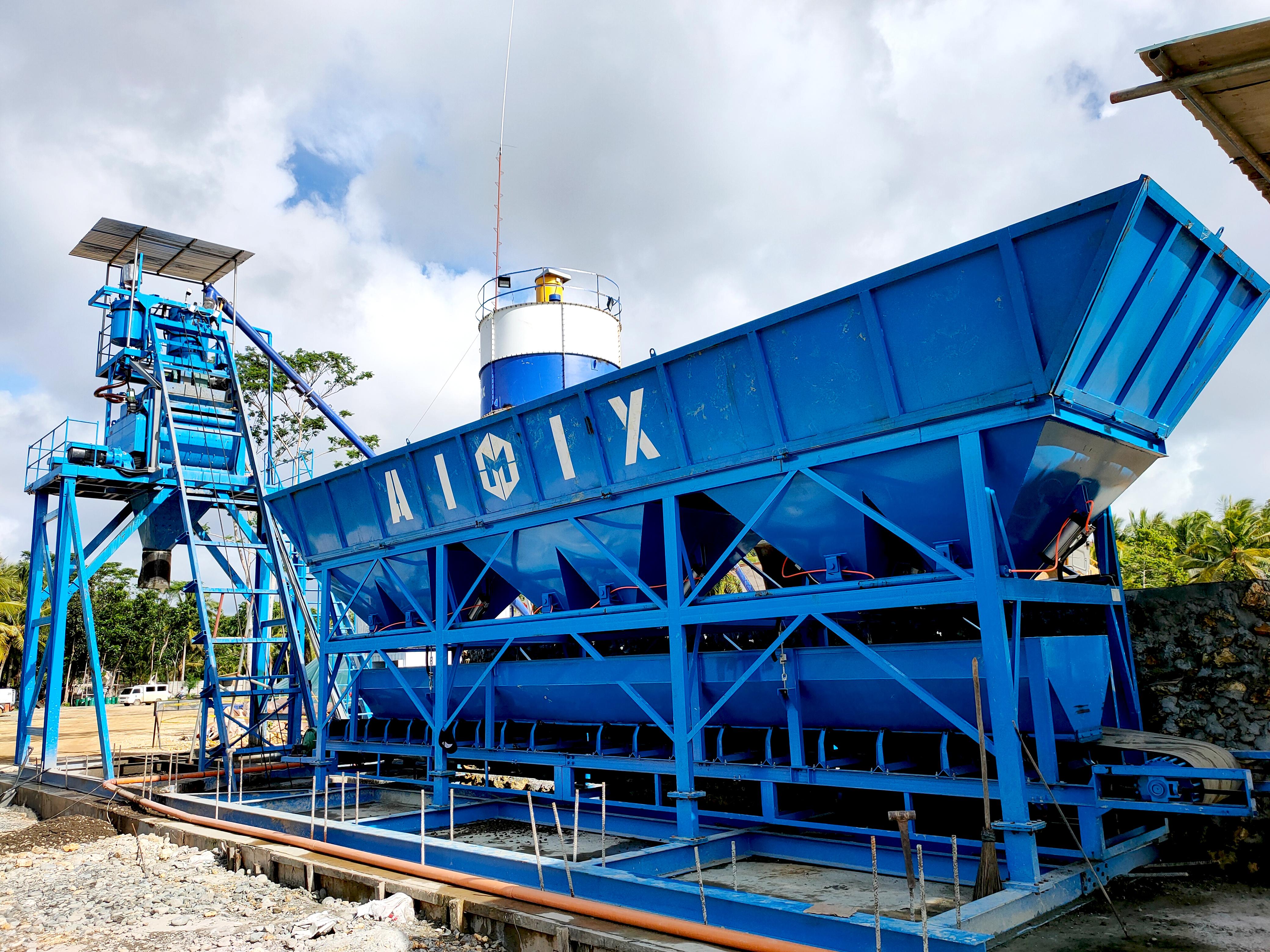 JS1000 for AJ50 Concrete Plant