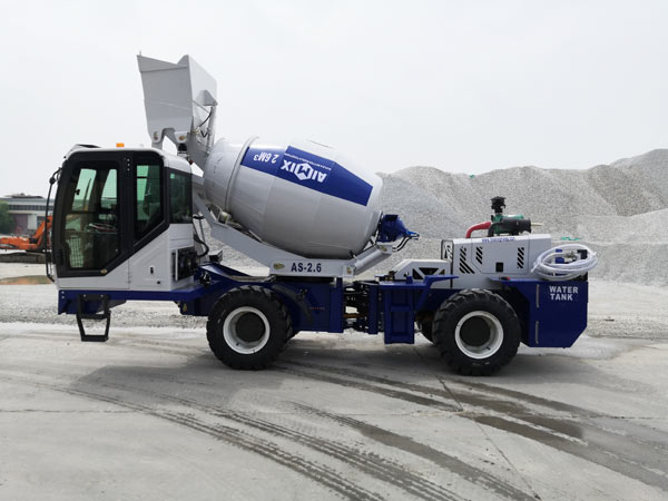 AS-2.6 Self Loading Concrete Mixer with Pump