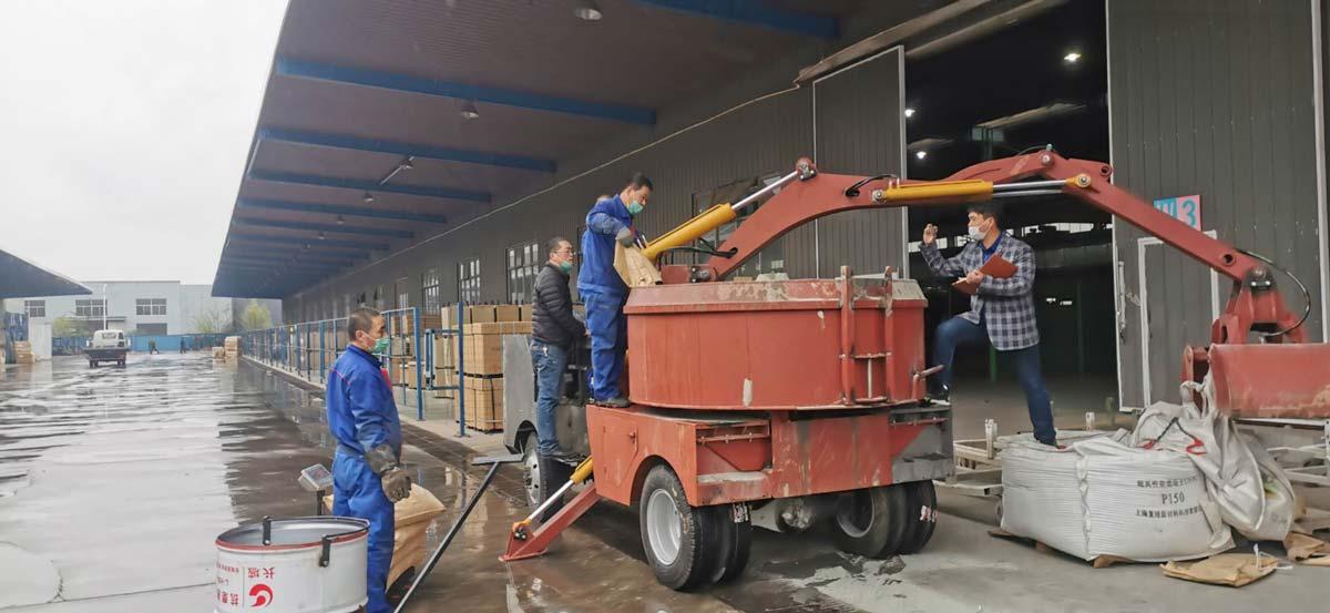 Grab Bucket Concrete Mixer Truck