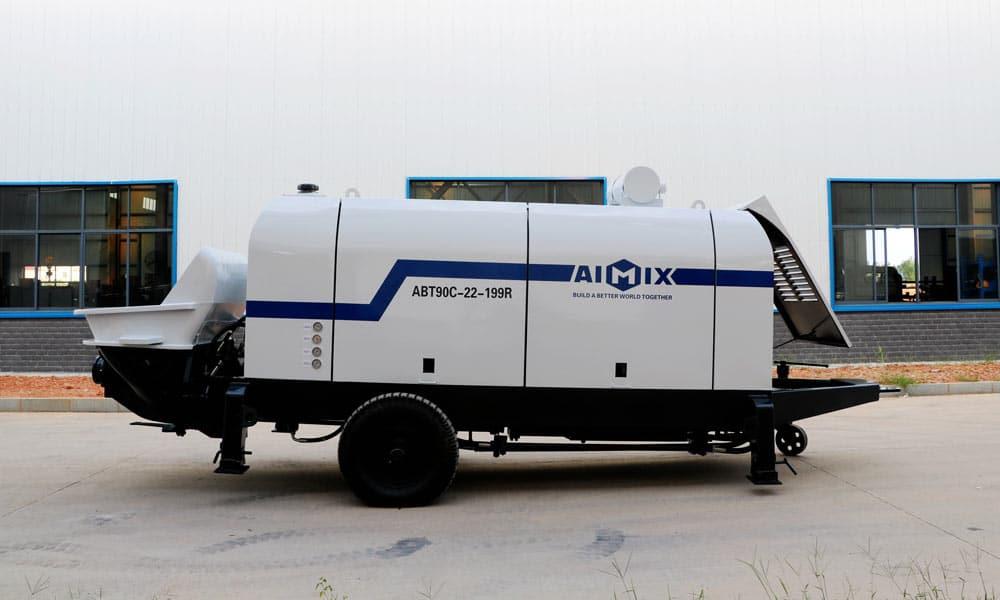ABT90C Diesel Concrete Pump Was Transported to Uzbekistan