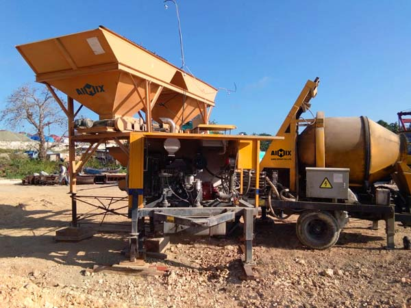 AIMIX Concrete Mixing Pump in Indonesia