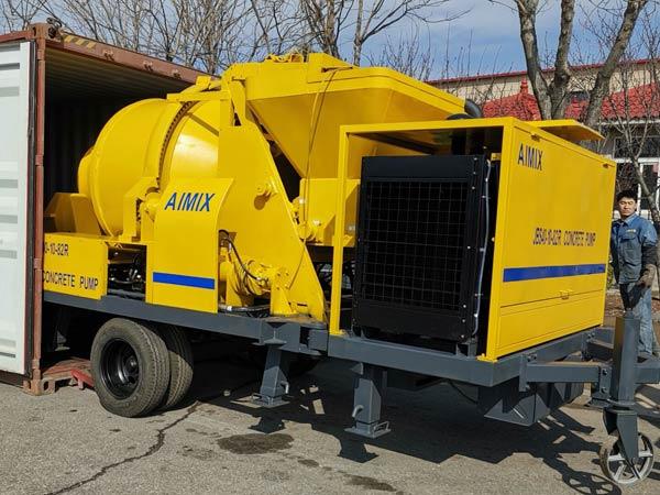 Transporting ABJZ40C Mixer Pump to Jamaica