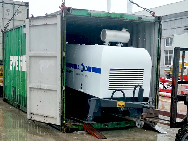 Transporting ABT40C Diesel Concrete Pump to Jamaica