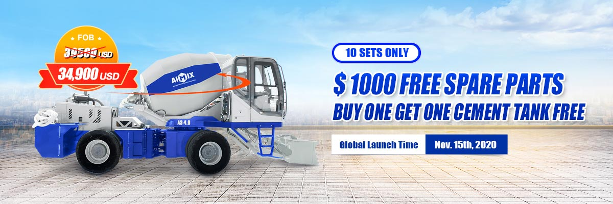 AIMIX AS-4.0 Self Loading Concrete Mixer for sale with discounts