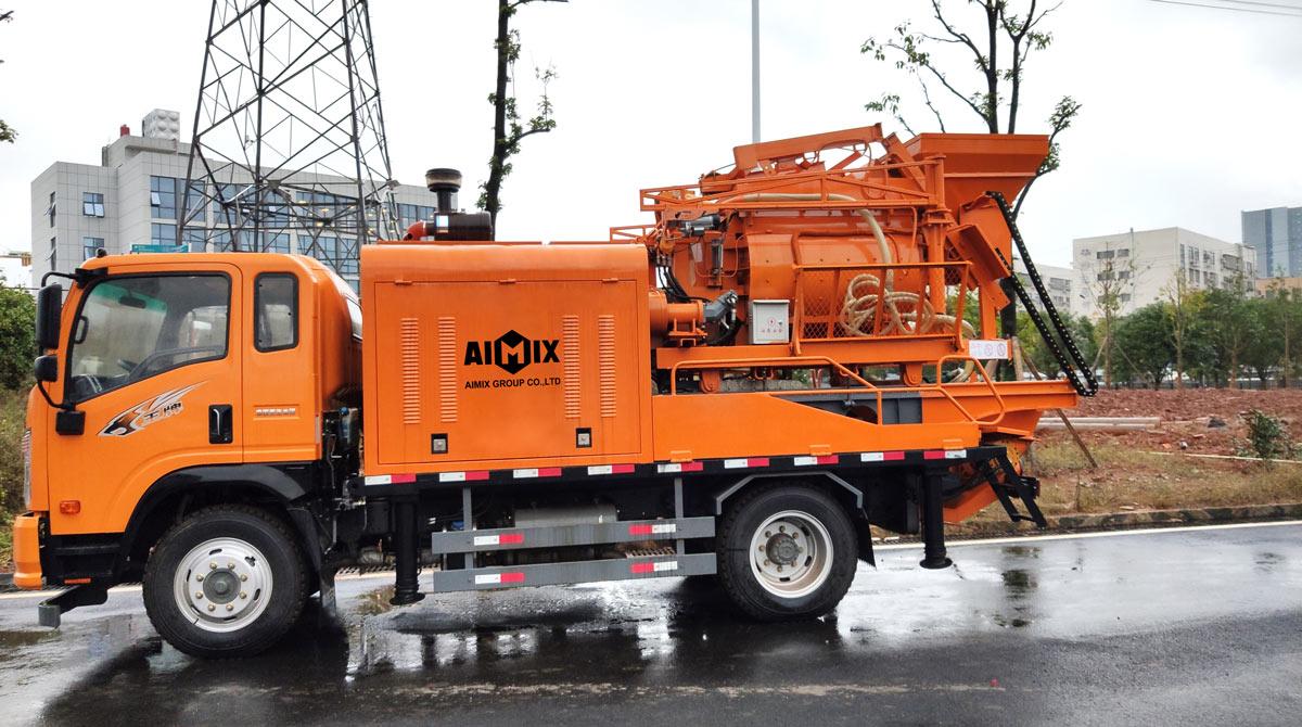 Автобетоносмесительный насос для амиксов на грузовиках
