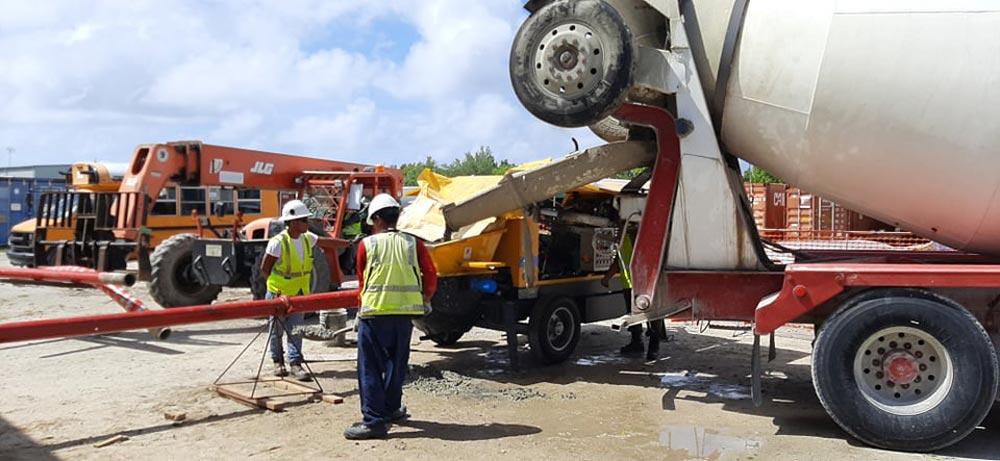 Pumping Concrete In Diego Garcia