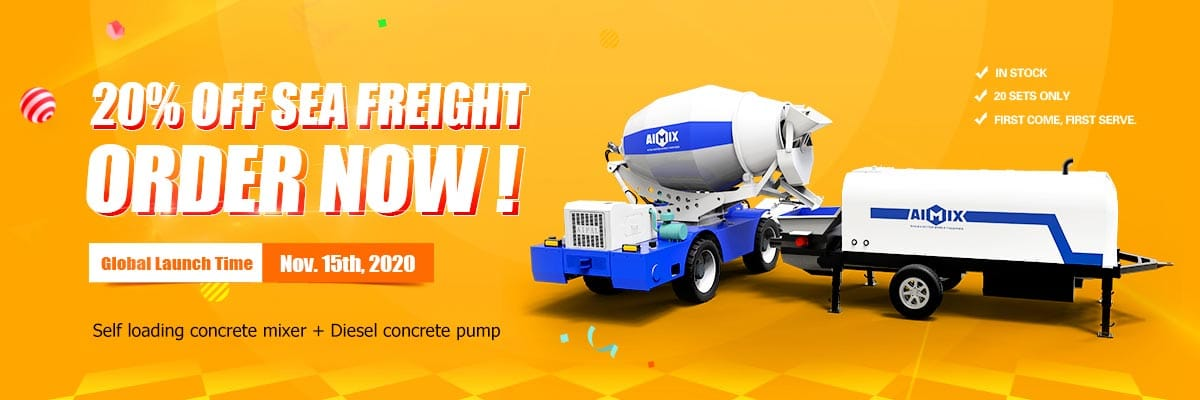 Self Loading Concrete Mixer with Pump for sale with discounts