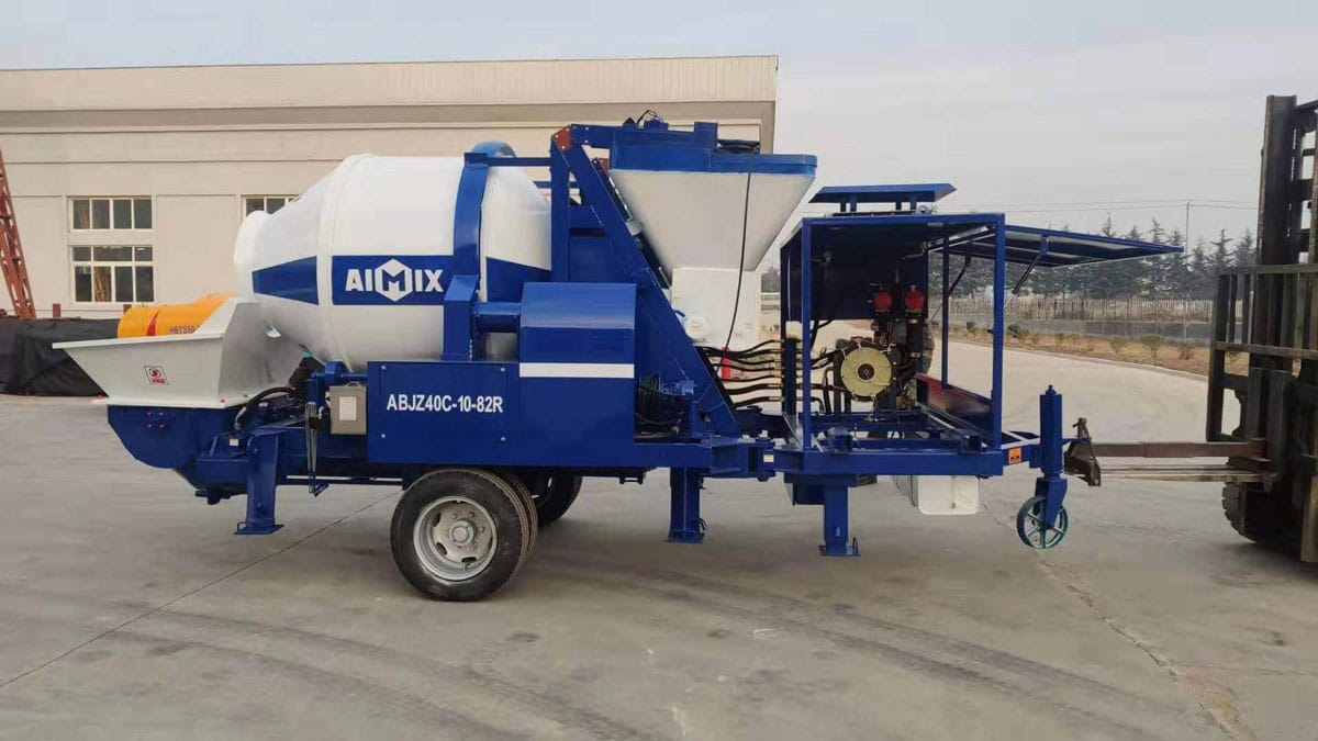 Transporting ABJZ40C Diesel Concrete Mixer Pump to Canada