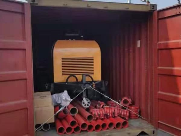ABT40C Diesel Concrete Pump Delivery