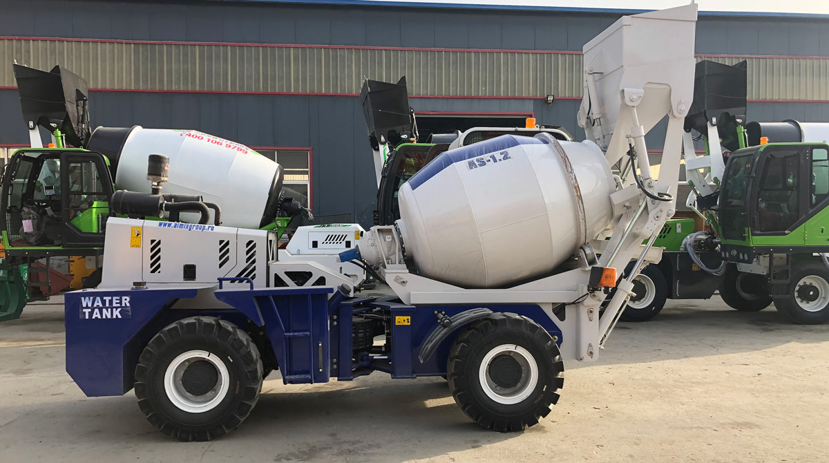 AS-1.2 Self Loading Concrete Mixer Was Exported to Russia