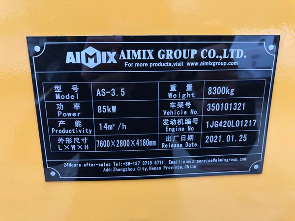 AS-3.5 Mixer Specifications