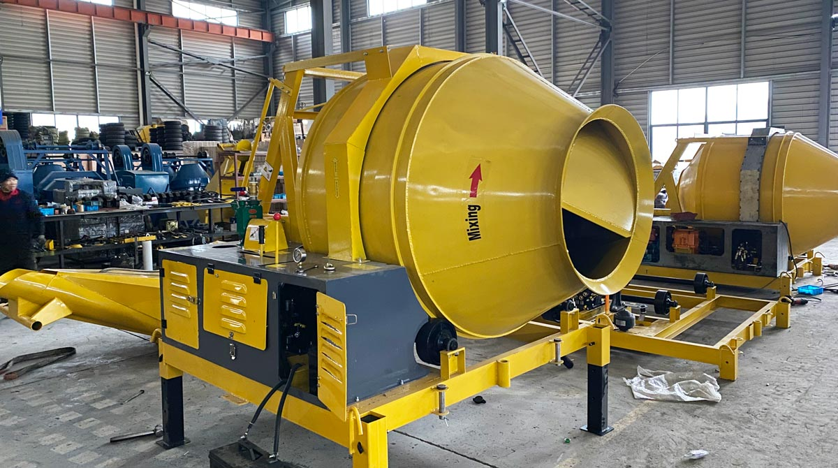 JZR350 Drum Concrete Mixer Was Exported to Papua New Guinea
