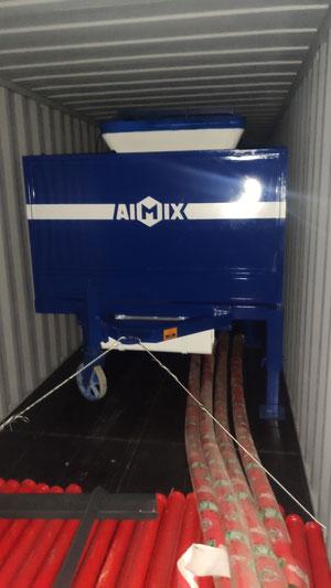 ABJZ30C Diesel Concrete Mixer Pump Loading