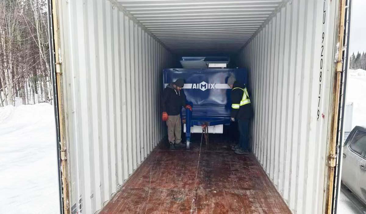 ABJZ40C Diesel Concrete Mixer Pump Has Arrived in Canada