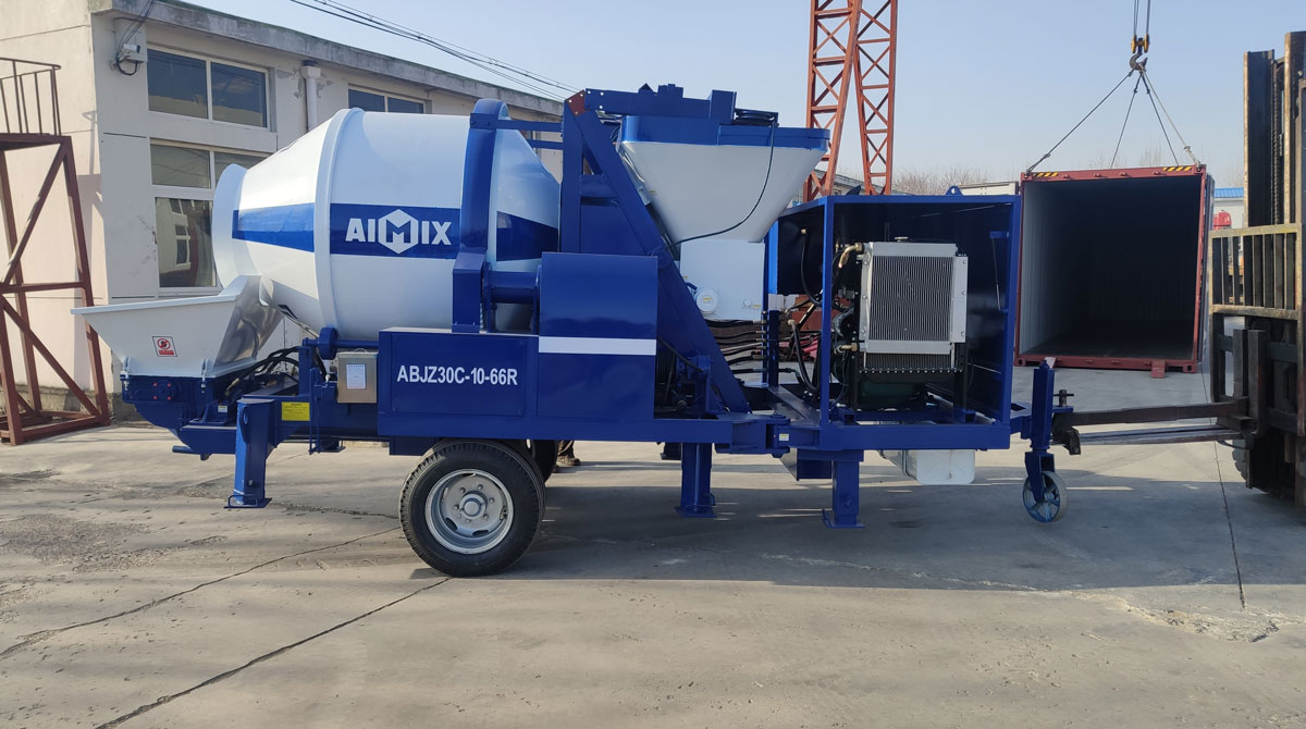 Exporting AIMIX ABJZ30C Diesel Mixer Pump to Barbados