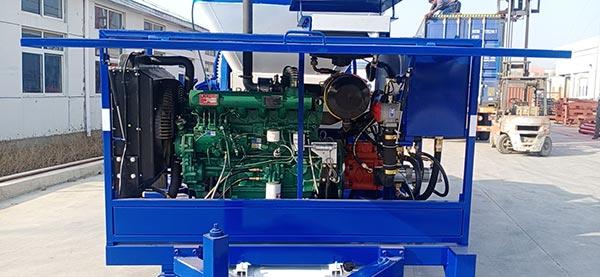 Inner of Diesel Concrete Pump Mixer