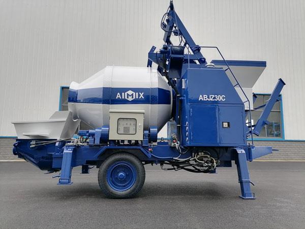 ABJZ30C Small Diesel Concrete Mixer Pump