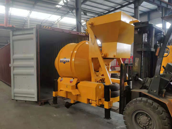 Loading JZM500 Concrete Mixer