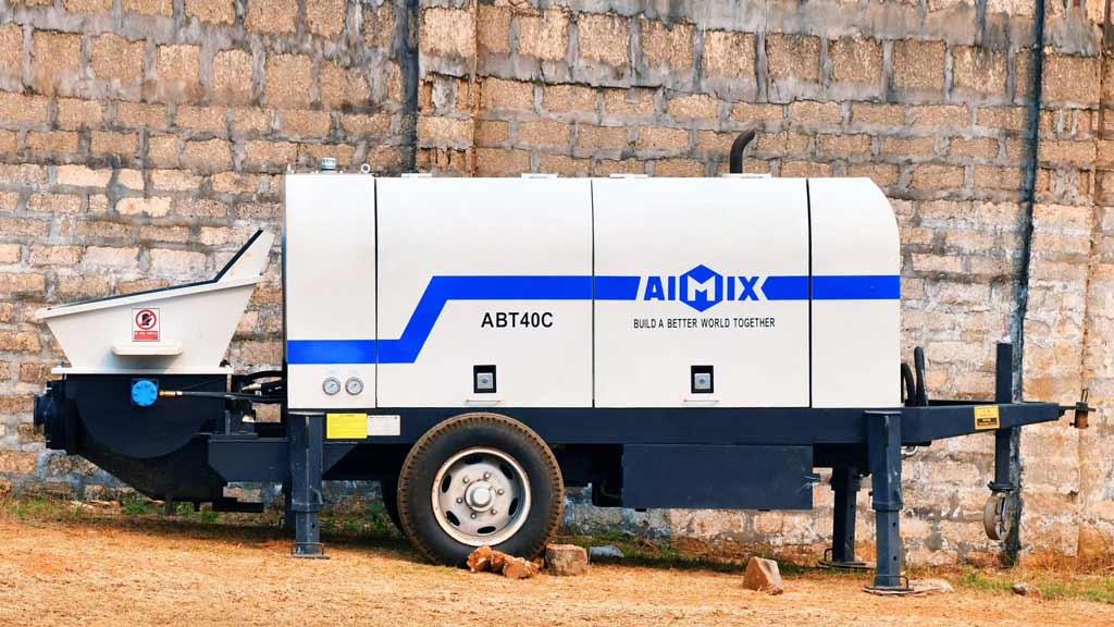ABT40C ปั๊มคอนกรีตรถพ่วงดีเซลในเมียนมาร์