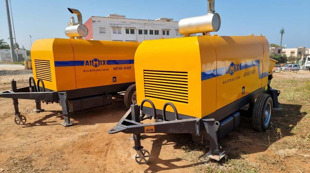 AIMIX Concrete Trailer Pump in Morocco