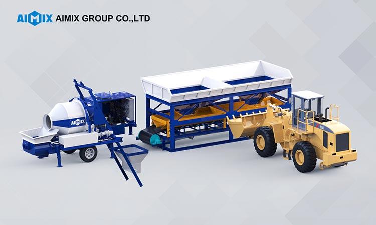 Mesin Batching Beton dan Kombinasi Pompa Pengaduk Beton