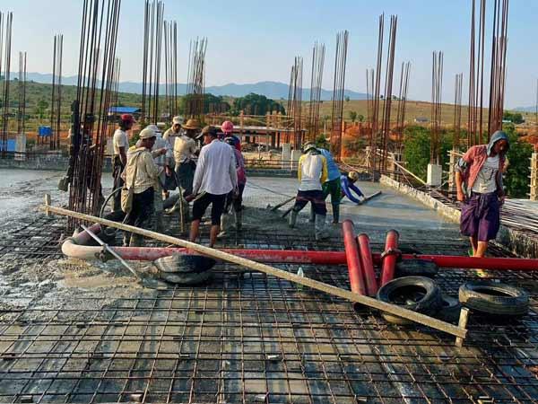 Concrete Pumping in Myanmar