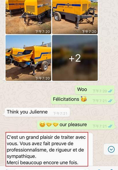 Morocco Customer Reviews on Trailer Pump