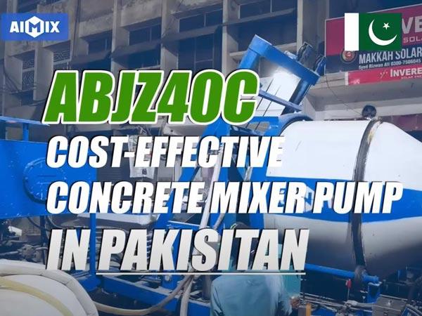 Pokistonda ABJZ40C dizel beton aralashtirgich nasosi