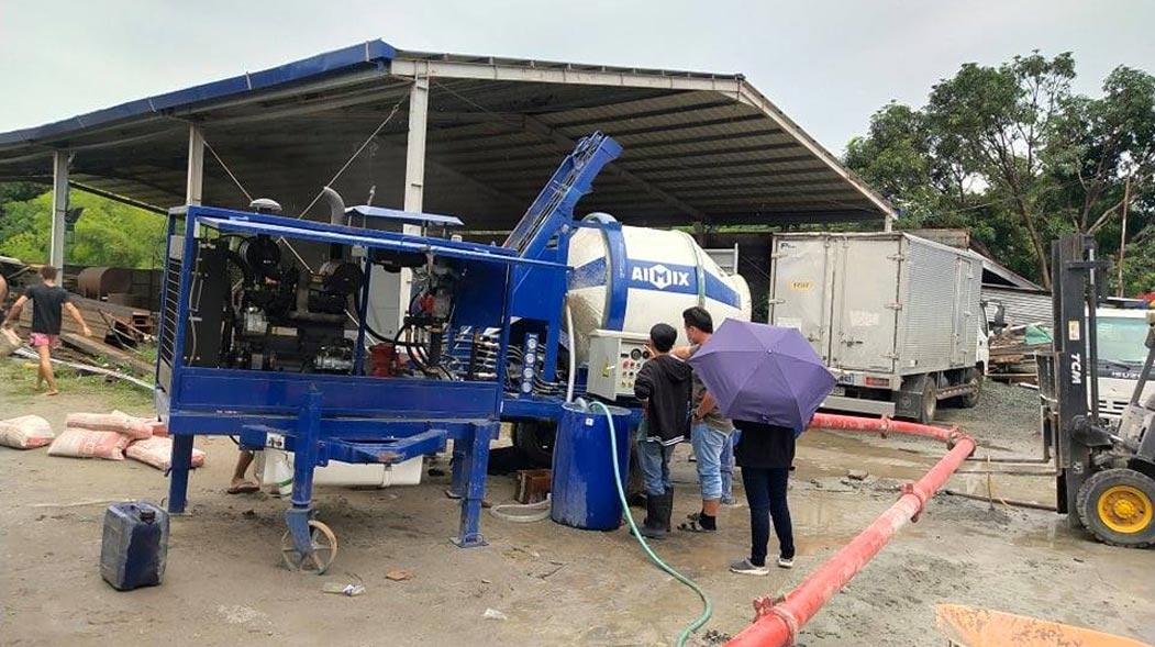 Pompa Beton Diesel ABJZ40C Di Filipina
