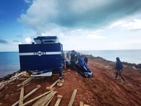 ABJZ40C Diesel Concrete Pump in Indonesia